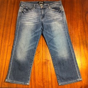 Lucky Brand sherry sweet n low cropped jeans